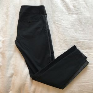 Limited Black Pants with Faux Leather Details